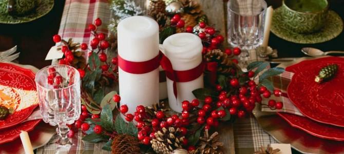 Nápady na dekoraci vánoční tabule